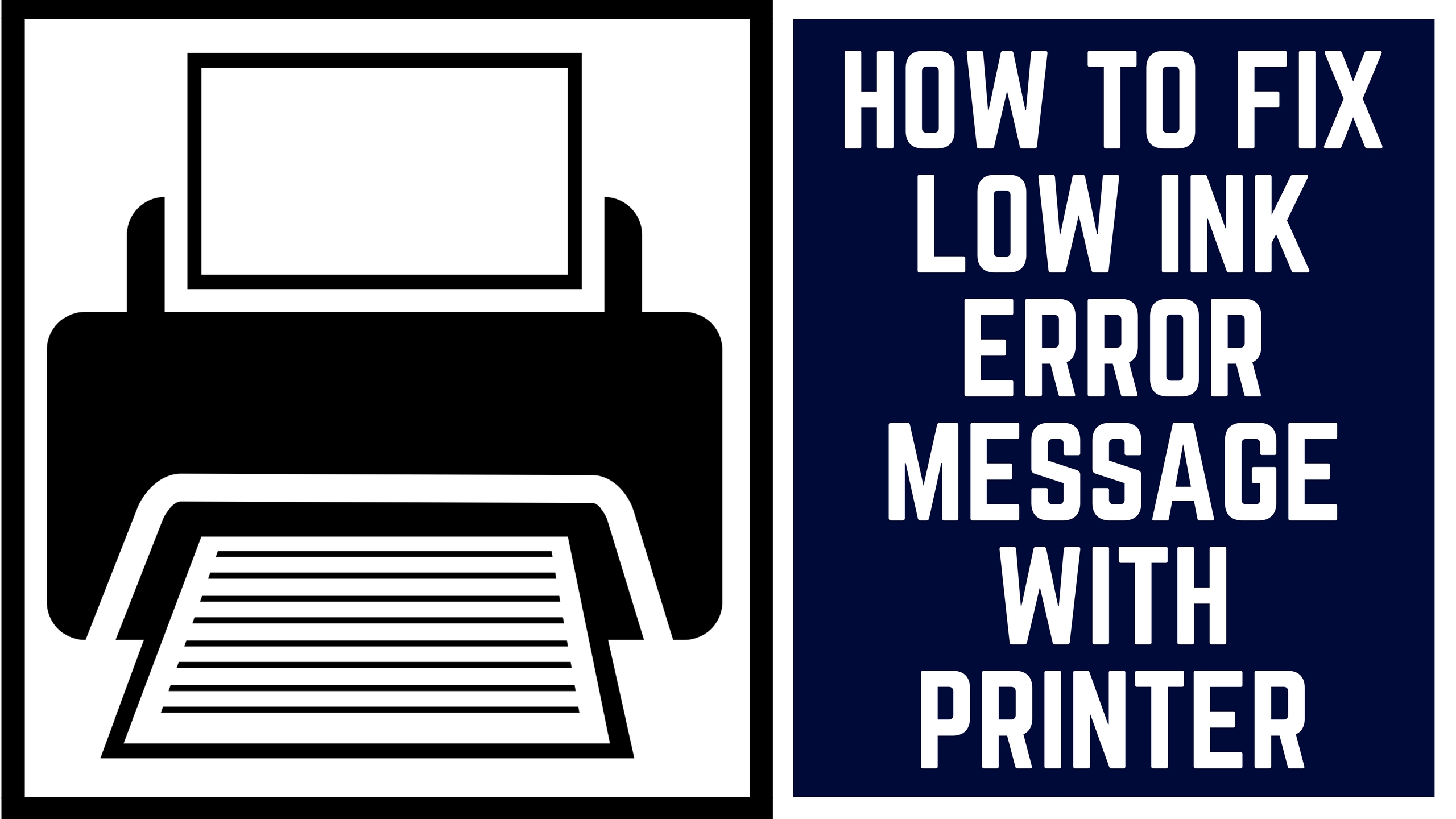 Simple Steps to Fix Low Ink Error Message in Brother Printer