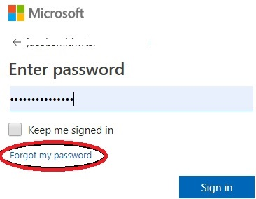 forgot my password windows live mail