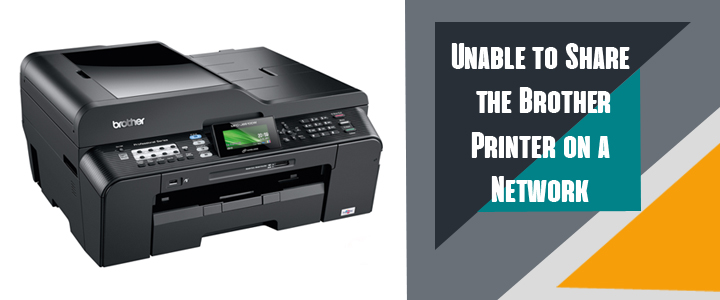 Unable to Share the Brother Printer Network