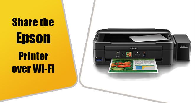 share epson printer over wi-fi