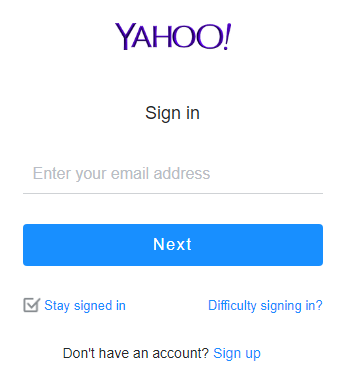 Log on mail.yahoo.com