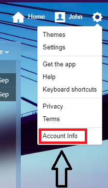 Choose Account info