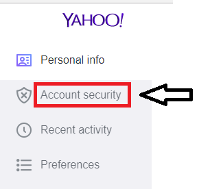 choose Account security
