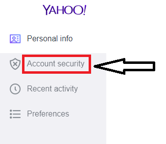 Press the Account Security