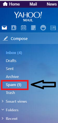 Go to spam folder