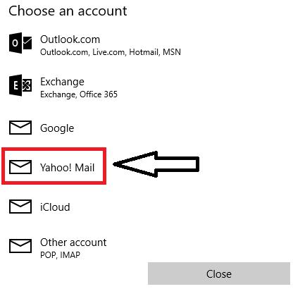 Select Yahoo mail