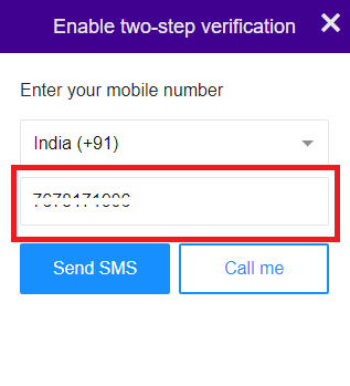 Provide your mobile number