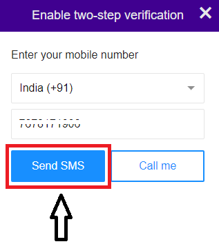 Click on Send SMS